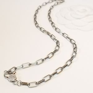 Jewelry - NEW Matte Silver paperclip link chain necklace